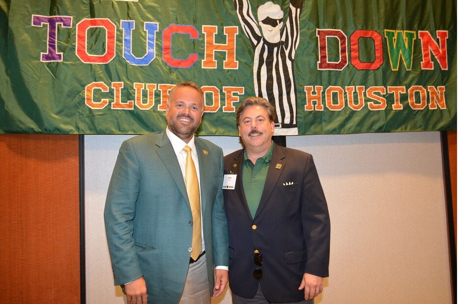 touchdownclub-Baylor University football coach Matt Rhule 2018