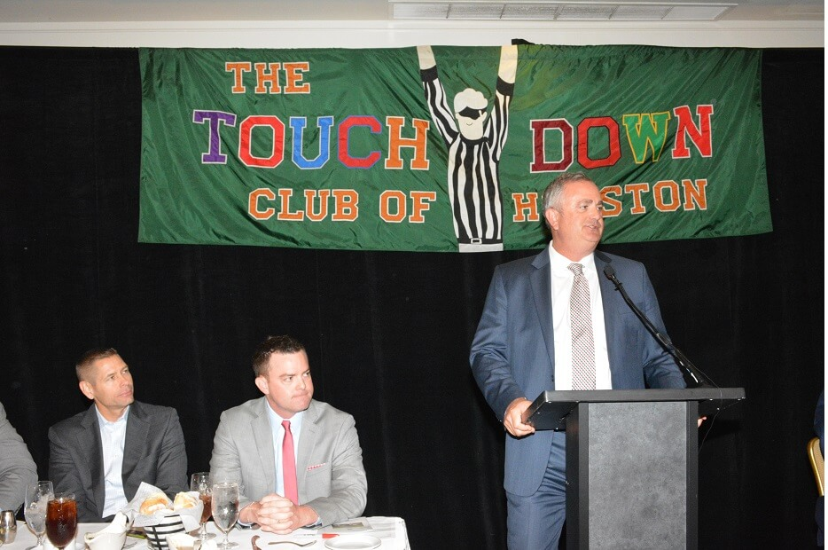 touchdownclub-Coach Sonny Dykes speaks to the TD Club 2018