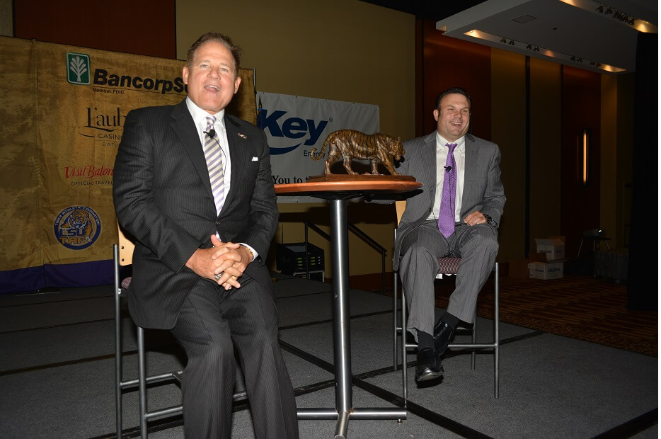 touchdownclub-LSU coach Les Miles spoke to the TD Club in 2014