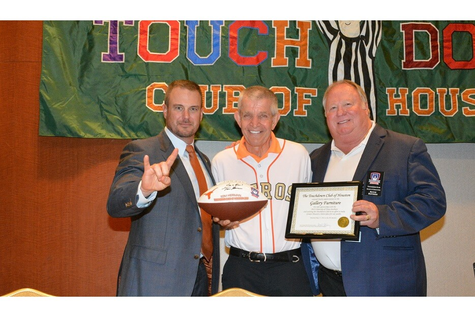 touchdownclub-Tom Herman addressed the TD Club in 2018